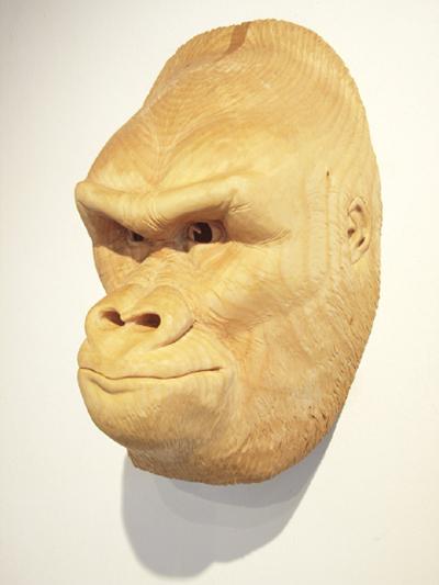 Gorillamaske Holz