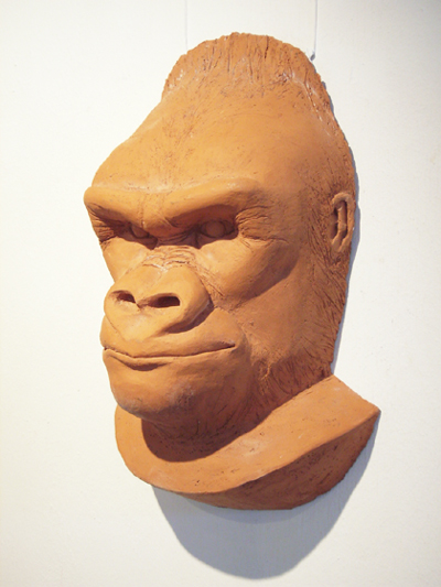 Gorillamaske Terrakotta