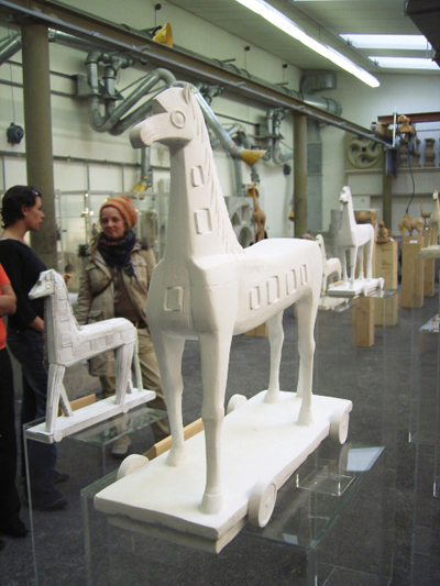 Trojanisches Pferd - Gips