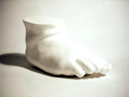 Babyfuß in Keramik